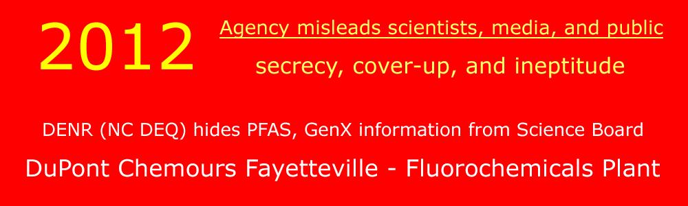 NC DEQ Air fales, misleading 2012 Memo and Report