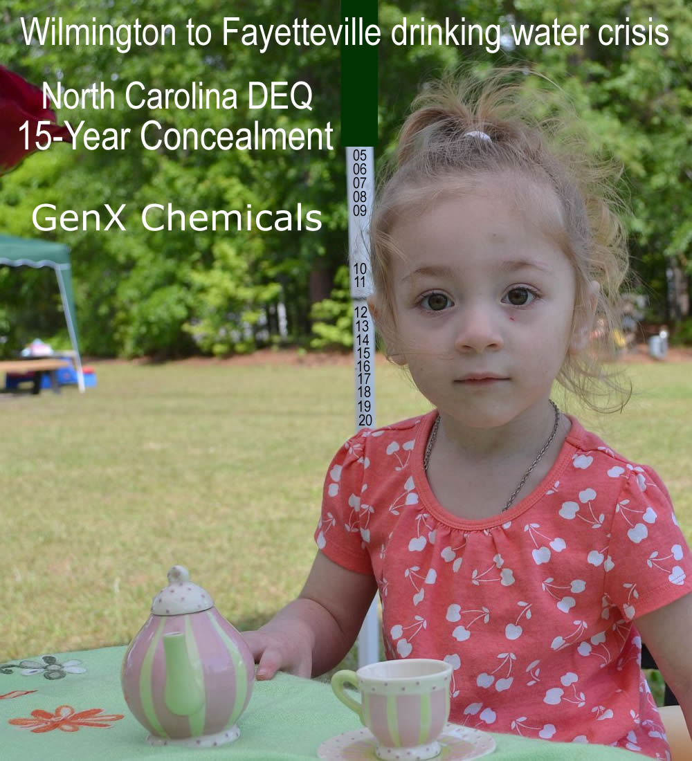 Chemours Dupont GenX chemicals and NC DEQ concealment & coverup