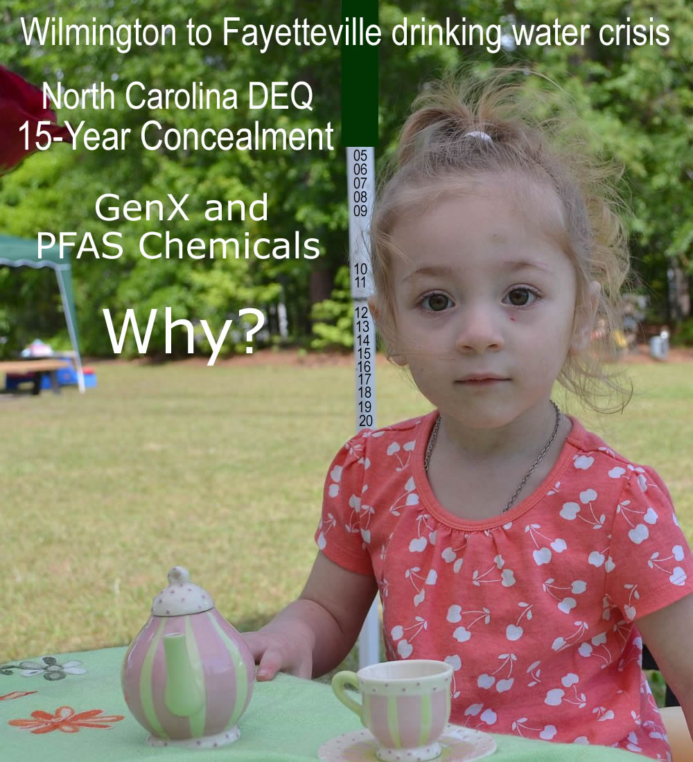 NC DEQ concealment and coverup of GenX and PFAS chemicals